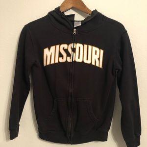 Other - Missouri Mizzou Football Hooded Sweatshirt Zip-up